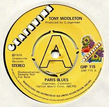 Tony Middleton   **   Paris Blues  **    U K    GRAPEVINE DEMO  -  GRP  115