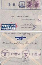 Brazil 1940 LATI air line from Rio De Janerio  to Ferlin. Whermacht censored
