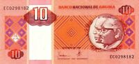 Angola banconota 1999 nove di 10 kwanzas pick 145a UNC