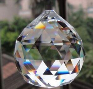 Kugel Anhänger Kristall Deko ca 58 mm Fenster Prisma, Kronleuchter Lüster B Ware