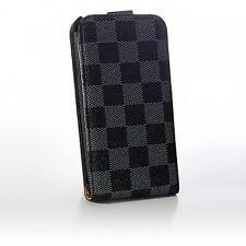 Luxus Flip Case Handy Tasche HTC One X /s720e schwarz grau Etui Schutz hülle Bag