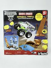 K'NEX Monster Jam Downhill Destruction Silver Grave Digger Building Set