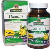 Nature s Answer Damiana Leaf 800 mg 90 Vegetarian Capsules Cruelty-Free, Kosher,