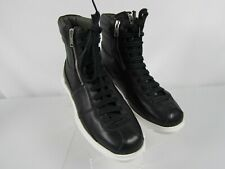 CAMPER Black Leather High Top Sneakers Men Size 41 US 8 Zip Lace New No Box