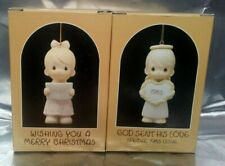 2 ~ Precious Moments Ornaments-God Sent His Love & Wishing You A Merry Christmas