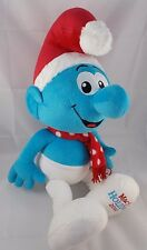 "Macy's Holiday Christmas Santa SMURFS Plush Doll 22"" 2010"