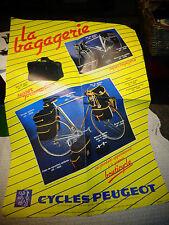 Ancienne Affiche Cycle Peugeot LA BAGAGERIE Sacoche la Bouticycle Vélo Randonnée