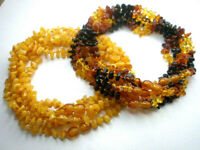LOT WHOLESALE OF 10 BALTIC AMBER CHILDREN'S  NECKLACES MIXED COLOR