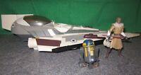 Star Wars Clone Wars Mace Windu Starfighter + R8-B7 from Rise of Boba Fett Pack