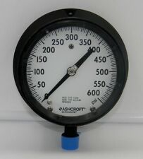 New Old Stock 45 1379 S S 04l 600 Ashcroft Duragauge Solid Front Pressure Gauge