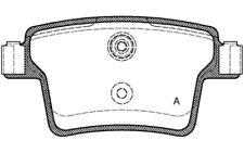 4x OPEN PARTS Pastillas de Freno Traseras Para JAGUAR X-TYPE BPA1149.10