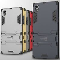 For Sony Xperia XA1 Plus Case Hard Kickstand Protective Slim Phone Cover