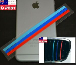 Grille Sticker Decal 3 Color Cover Stripe Band Vinyl 15cm Length for BMW