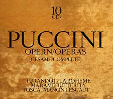 CD Puccini Opern / Opera Gesamt Aufnahmen Complete 10 CDs