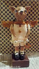 Whimsical Folk Art Vintage Style Chihuahua Dog Doll Handmade New