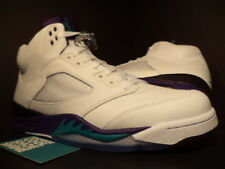 Nike Air Jordan V 5 Retro WHITE EMERALD GREEN GRAPE ICE BLACK 136027-108 DS 11.5