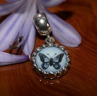 Genuine Pandora Agate Butterfly Cameo Charm Limited Edition 790865CAM Very Rare