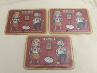 VEGEMITE RETRO RARE PLACE MAT PLACEMATS 3X THREE ITEMS AUSSIE ICON COLLECTABLE