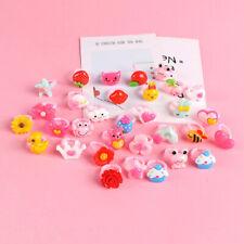 50Pcs/Lots Wholesale Mixed Lot Cute Cartoon Children/Kids Resin Rings Jewelry