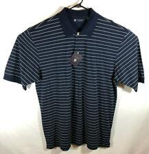 Oxford Golf - Mens - Classic Navy White Striped - 2XL - Short Sleeve Shirt - NWT