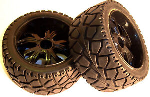 BS937-001 1/10 RC Buggy Street Wheel Tyre 2 Front Black Oversized