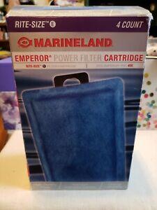 4 Marineland Rite-Size Cartridges E PA0137-04 Tank For Emperor Pro Power 450