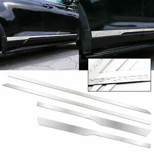 For Toyota Highlander 2014-2019 4pcs Stainless Body Door Side Molding Trim