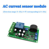 Current Detect Sensor AC 0-10A Full Range Linear Adjustable Relay Output a