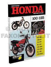 1970-1971-1972-73 Honda Motorcycle Cyclserv Shop Manual CB100 CL100 SL100 SL125