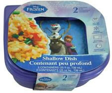Disney Frozen Movie Anna Elsa Princess Lunch Shallow Dish Plastic Containers