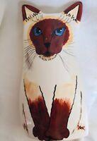 Vintage 2001 Nina Lyman Cats by Nina Siamese Blue Eyes Vase Planter Kitten