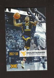 West Virginia Mountaineers--Jevon Carter-2017-18 Basketball Schedule-WVU Medicin