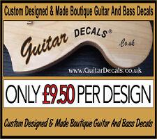 Guitar Neck Waterslide Headstock Decals - Headstock decal -  2 for £9.50
