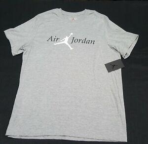 Nike Men Air Jordan Jumpman Logo Tee Shirt CZ1767-063 Heather Gray