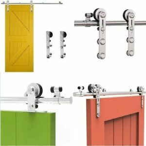 4FT-12FT Barn Door Sliding Door Hardware Kit Roller Track Sliding Rail Closet