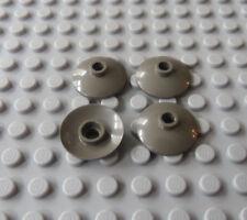 LEGO Lot of 4 Dark Gray Radar Dish 4489 10024 4483 6398 3451 7140 4970 1254 7142