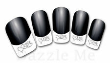 3D Nail Art Decals Transfer Stickers French Tip Design Rhinestones Love (3D849)