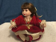 Marie Osmond Disney Baby Christmas Belle Tiny Tot Porcelain Doll