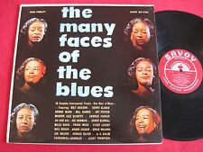 INSTRUMENTAL COMPILATION LP - THE MANY FACES OF THE BLUES (1958) SAVOY MG 12125