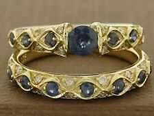 Sapphire Engagement & Band Ring Sets