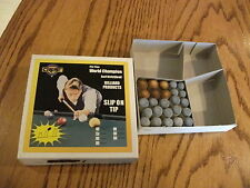 Slip-On Push-On Cue Stick Tips Lot of (25) Assorted Sizes Coin Op Repair Tips