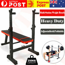 Multi-station Foldable Weight Bench Press Home Gym Fitness Workout BD