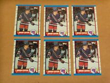Brian Leetch, 1989, Topps Rookie Card Lot of Six (6), #136, Clean