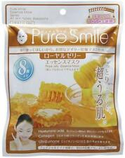 Pure Smile Face Essence Mask 18ml × 8 sheets Royal jelly From Japan