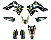 Monster Energy Graphics kit to fit KAWASAKI KXF 450  2012 - 2015 Motocross Enjoy
