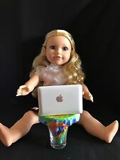 "18"" Inch Doll Laptop MacBook Air White- American Girl Doll Accessories"