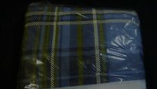 "BED SKIRT Sz  King Blue & Green Plaid NEW 14"" Drop & 2 King Shams Northcrest"