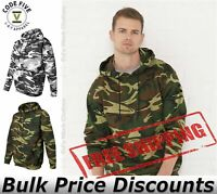 Code Five Mens Adult Camo Pullover Fleece Hoodie Hooded 3969 up to 3XL