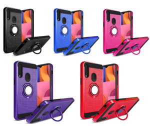 """For LG Tribute Monarch 5.7"""" Hybrid Kickstand Magnetic Ring Cover Case Texture"""