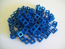 Rokenbok 1990's 76 Blue Square Connectors Singular Building Block System Lot